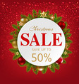 xmas sale banner with balls and fir tree vector image vector image