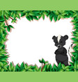 a skunk in nature frame vector image vector image