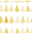 abstract christmas tree row pattern vector image vector image