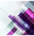 Abstract geometric violet background vector image