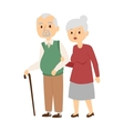 Aged people vector image