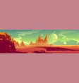 alien planet landscape surface mars vector image vector image