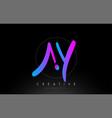 ay artistic brush letter logo handwritten vector image vector image
