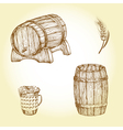 Beer theme drawings vector image