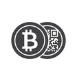 black bitcoins icon vector image vector image
