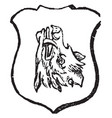 boars head erect is said of any animal or parts vector image vector image