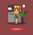 business partner in flat style vector image vector image