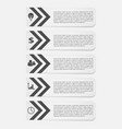 business templates for text white vector image vector image