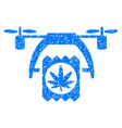 cannabis drone delivery grunge icon vector image vector image