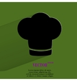 Chef cap Cooking Flat modern web button with long