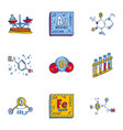 chemistry formula icon set hand drawn style vector image