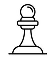 chess pawn icon outline style vector image