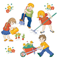 children workings vector image vector image