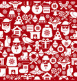 christmas seamless pattern of icons of flat style vector image vector image