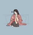 cold flu severe cough concept vector image