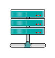 color wifi router technology to web access vector image