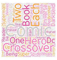 Crossovers in Comic Books text background vector image vector image