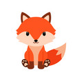 cute cartoon fox in modern simple flat style vector image