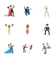 Dancing people icons set cartoon style vector image vector image
