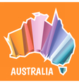 Digital australia map with abstract colored vector image vector image