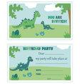 Dinosaur birthday party invitation vector image vector image