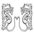 dragon traditional ethnic vector image vector image