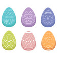 easter eggs image vector image vector image
