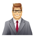 elegance smiling man with glasses vector image