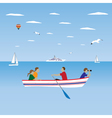 Family by the boat Family vacation vector image vector image