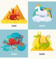 fantasy creatures concept vector image vector image