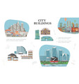 flat modern city composition vector image vector image