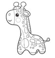 giraffe toy stands and waits for someone playing vector image vector image
