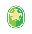 green star army badge vector image vector image