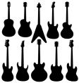 Guitars silhouettes vector | Price: 1 Credit (USD $1)