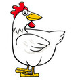 hen or chicken cartoon farm character vector image vector image