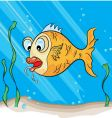 hook fish vector image vector image