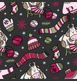hygge cow knits sweater christmas bull seamless vector image