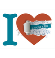 I love mathematics vector image vector image
