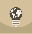 light save planet on ecology style lamp with map