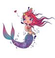 Lovely Mermaid vector image vector image