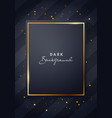 luxury dark black and gold poster template vector image vector image