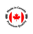 made in canada banner flag red maple leaf vector image vector image