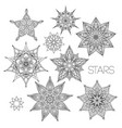 mandala set black and white image vector image