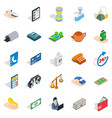 medical staff icons set isometric style vector image vector image