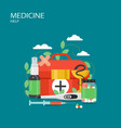 medicine help flat style design vector image vector image