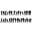 mens silhouettes vector image