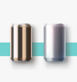 metal cans lying on surface with shadow vector image vector image