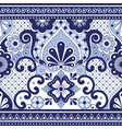 mexican talavera poblana seamless pattern vector image vector image