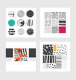 minimal square cards design set with hand drawn vector image