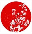modern japanese cherry blossom template vector image vector image